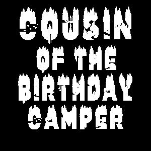 Cousin des Geburtstags Camper Camping unter dem Motto