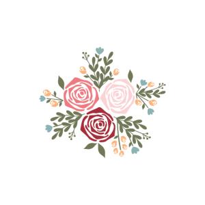 Hübsche Blumen Hals Gamasche Rose Bouquet Hals Gator