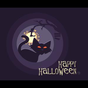 Happy Halloween Katze Corona