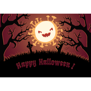 Happy Halloween Silhouette Corona