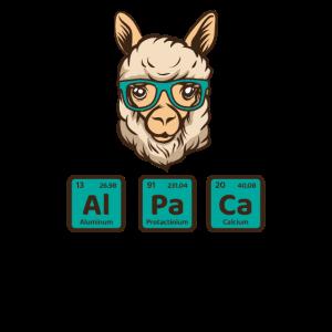 Alpaka-Periodensystem, Lama-Shirt, Chemie-Shirt