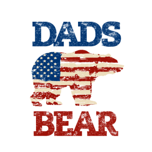 DADS BEAR Patriotic Flag Matching 4th Of July