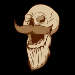 Totenkopf mit Bart