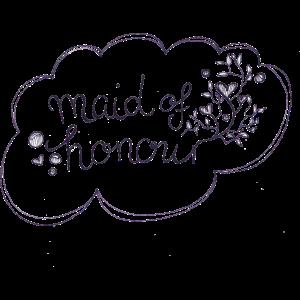 Maid of honour Geschenk / Geschenkidee BRIDE TO BE