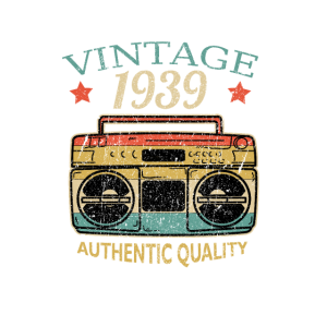 Vintage 1939 Geburtstag Radio Authentic Quality