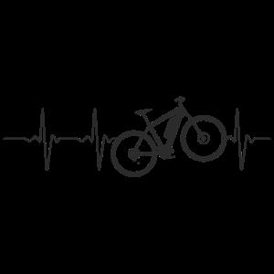 E-Bike EKG Fitnessbike Elektrofahrrad Herzschlag