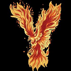 Phoenix Rising Fire Bird Mythische Grafik