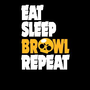 BRAWL TShirt Eat Sleep Brawl Repeat Zocker Gamer