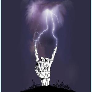 signe metal squelette
