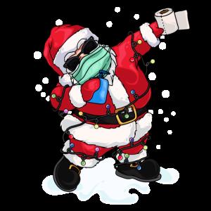 Dabbing Santa Dab Weihnachten Maske Lustig