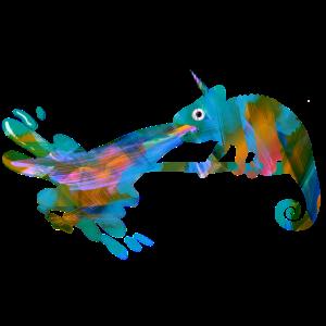 Chamäleon, graffiti, camelion, bunt,illustration
