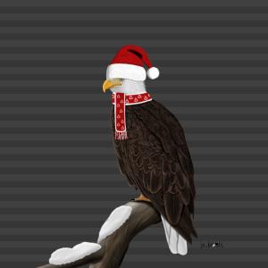 Adler Krone Vogel Mund-Nasen-Maske Grau Streifen