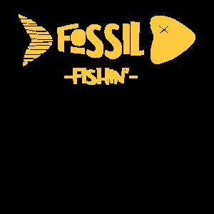 Paleontologie Fossiler Fisch Trend Motiv