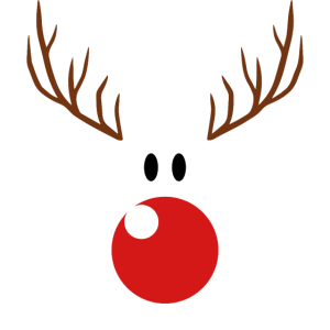 Rentier Weihnachten lustig rote Nase Rudolph