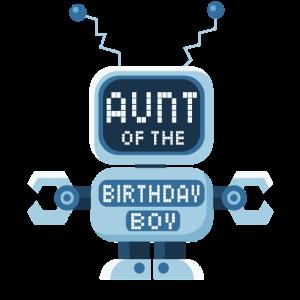 Tante des Geburtstagskind-Roboterliebhabers Bday Party