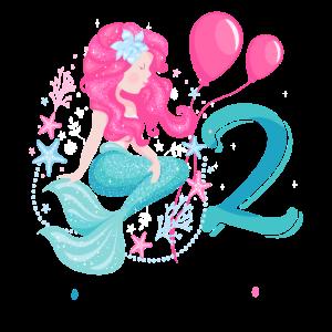 2. Geburtstag Meerjungfrau Zwei Jahre