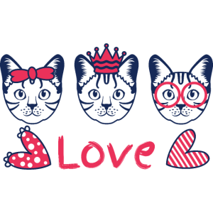 Liebe niedlichen bengalischen Katzenkopf