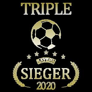 Triple Sieger Bayern Fußball 2020 Pokal