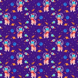 Weltraum Lama Muster Mundschutz