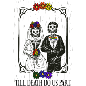 Till Death Do Us Part Lesbian Wedding Couple LGBT