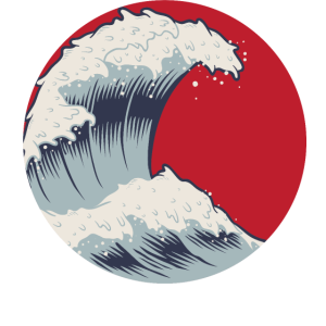 Japan Kanagawa Welle kanji Japanisch wave Geschenk