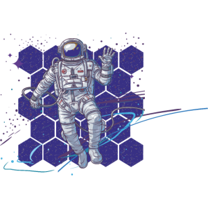 Polygone Astronaut Muster