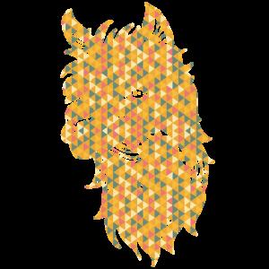 Alpaka geometrische Hemden