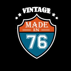 Vintage Made In 76 Sport 1976 Geburtstags Geschenk