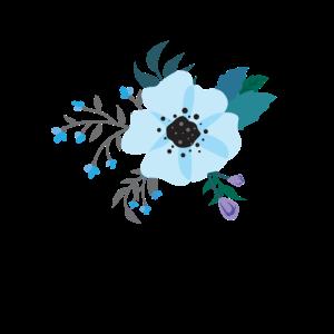 Bohemian Blumenmotiv