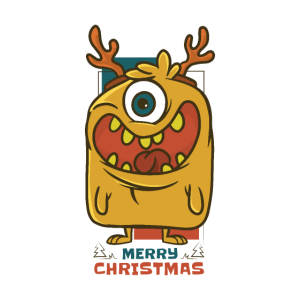 Merry Christmas Weihnachts Rentier Monster