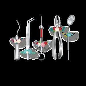 Zahnärztliche Instrumente Lustiges Zahnbehandlung