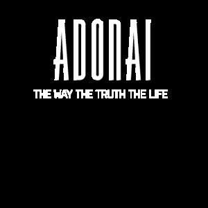 Adonai Der Weg, die Wahrheit & das Leben Bibelvers