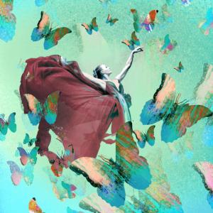Schmetterling, malerei, mint,tänzerin,ballerina
