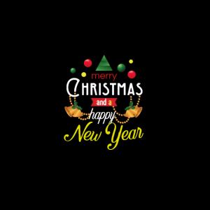 Frohe Weihnachten ein gutes neues Jahr Stoffmaske