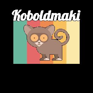 Koboldmaki Affe Primat Südostasien - Schriftzug