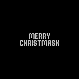 merry christmask funny saying face mask gift idea