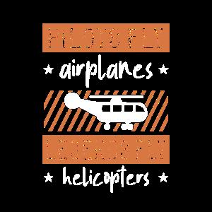 Piloten fliegen Flugzeuge Legenden fliegen Hubschrauber - Zin