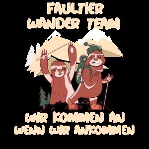 Faultier Wander Team Outfit Bergsteiger Wanderung