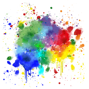 Bunter Farbklecks / Farbe