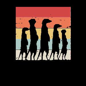 Retro Erdmännchen Surikate