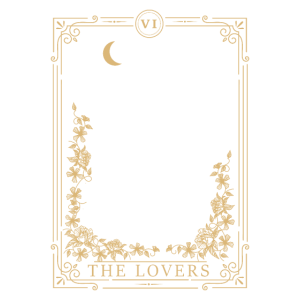 The Lovers Vintage Tarot Card Magic