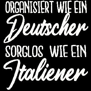 Deutsch-Italianer italienisch Spruch Geschenk