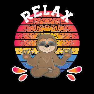 Meditation Faultier Relax Mandala Yoga Sloth