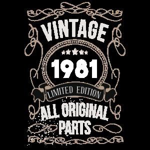 1981 Vintage all original Parts - 40.Geburtstag