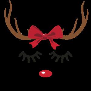 Rentier Weihnachten Geschenk rote Nase süß Motiv