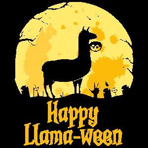 Happy Llamaween Funny Halloween Llama Costume Gift