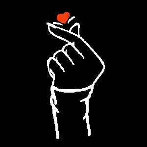 Hand schnipst mit Herz