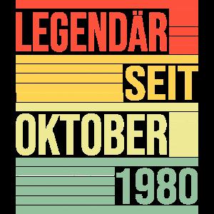 Legendär seit Oktober 1980 40. Geburtstag Vintage