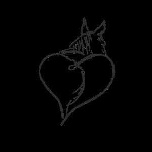 Pferdeliebe - Detailliertes Pferde mit Herz
