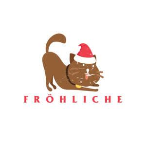 Fröhliche Weihnachten Katze